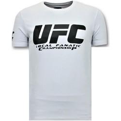 textil Herr T-shirts Local Fanatic Mens Print UFC Championship Vit