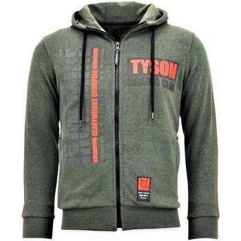 textil Herr Sweatshirts Local Fanatic Training Vest Mike Tyson Boxing Iron Grön
