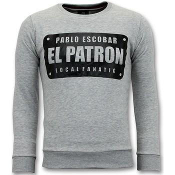 textil Herr Sweatshirts Local Fanatic Pablo Escobar El Patron Grå