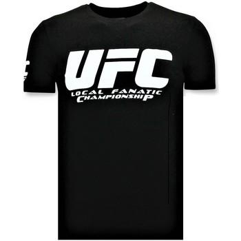 textil Herr T-shirts Local Fanatic UFC Championship Print Svart