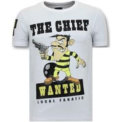 textil Herr T-shirts Local Fanatic Print Chief Sökes W Vit