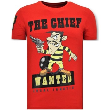 textil Herr T-shirts Local Fanatic Chief Wanted Röd