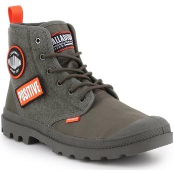 Skor Herr Höga sneakers Palladium Manufacture Pampa HI Change U 76648-325-M olive green