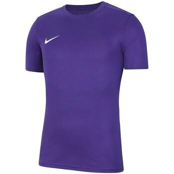 textil Pojkar T-shirts Nike Dry Park Vii Jsy Lila