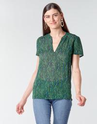 textil Dam Blusar Ikks BR11055 Grön