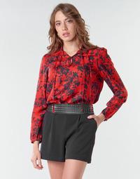 textil Dam Blusar Ikks BR13085 Röd