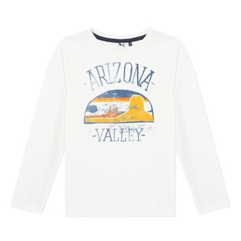 textil Pojkar Långärmade T-shirts 3 Pommes 3R10005-19-C Vit