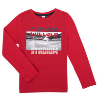 textil Pojkar Långärmade T-shirts 3 Pommes 3R10015-37-C Röd