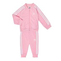 textil Flickor Set adidas Originals SST TRACKSUIT Rosa