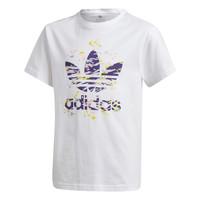 textil Flickor T-shirts adidas Originals TREF TEE Vit