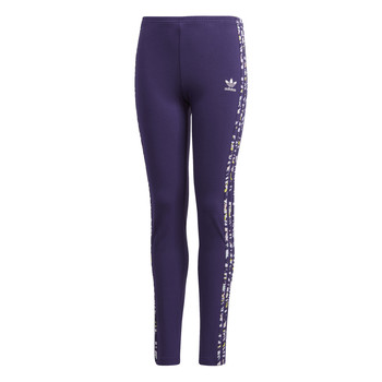 textil Flickor Leggings adidas Originals SOLID LEGGINGS Violett