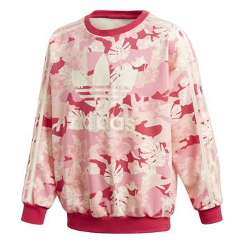 textil Flickor Sweatshirts adidas Originals CREW Rosa