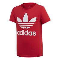 textil Barn T-shirts adidas Originals TREFOIL TEE Röd