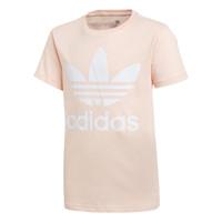 textil Flickor T-shirts adidas Originals TREFOIL TEE Rosa