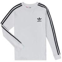 textil Barn Långärmade T-shirts adidas Originals 3STRIPES LS Vit