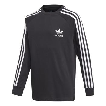 textil Pojkar Långärmade T-shirts adidas Originals 3STRIPES LS Svart