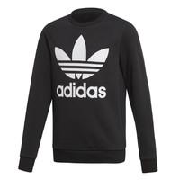 textil Barn Sweatshirts adidas Originals TREFOIL CREW Svart
