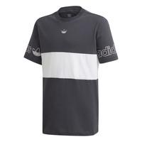 textil Pojkar T-shirts adidas Originals PANEL TEE Grå / Vit