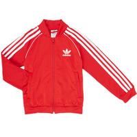 textil Pojkar Sweatjackets adidas Originals SST TRACKTOP Röd