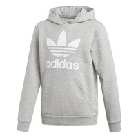 textil Pojkar Sweatshirts adidas Originals TREFOIL HOODIE Grå