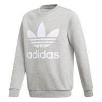 textil Barn Sweatshirts adidas Originals TREFOIL CREW Grå