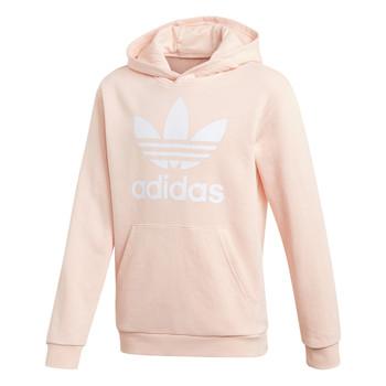 textil Flickor Sweatshirts adidas Originals TREFOIL HOODIE Rosa