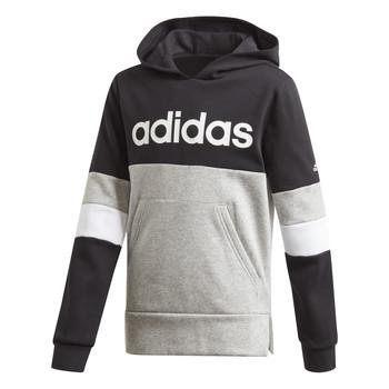 textil Pojkar Sweatshirts adidas Performance YB LIN CB HD FL Svart / Grå