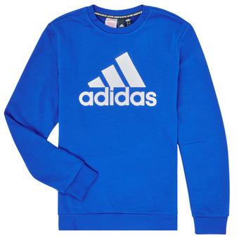 textil Pojkar Sweatshirts adidas Performance JB MH CREW Blå