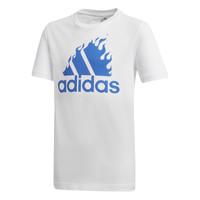 textil Pojkar T-shirts adidas Performance JB BOS GRAPH Vit