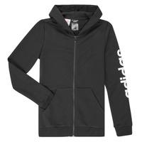 textil Flickor Sweatshirts adidas Performance YG E LIN FZ HD Svart
