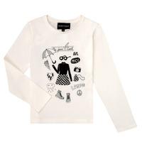 textil Flickor Långärmade T-shirts Emporio Armani 6H3T01-3J2IZ-0101 Vit
