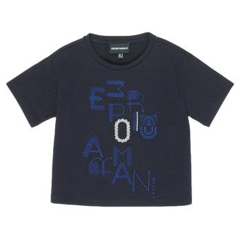 textil Flickor T-shirts Emporio Armani 6H3T7R-2J4CZ-0926 Marin