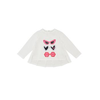 textil Flickor Långärmade T-shirts Emporio Armani 6HEM01-3J2IZ-0101 Vit