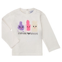 textil Flickor Långärmade T-shirts Emporio Armani 6HET02-3J2IZ-0101 Vit