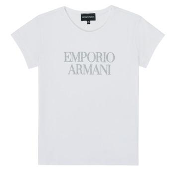 textil Flickor T-shirts Emporio Armani 8N3T03-3J08Z-0100 Vit