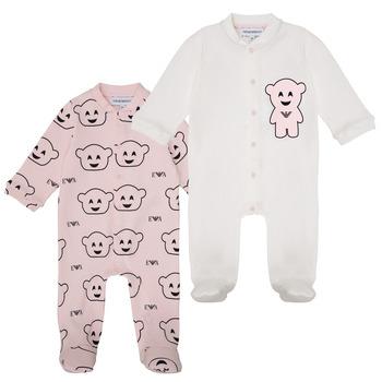 textil Flickor Pyjamas/nattlinne Emporio Armani 6HHV06-4J3IZ-F308 Rosa