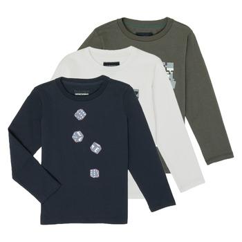 textil Pojkar Långärmade T-shirts Emporio Armani 6H4D01-4J09Z-0564 Flerfärgad