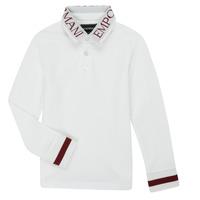textil Pojkar Långärmade pikétröjor  Emporio Armani 6H4FJ4-1J0SZ-0101 Vit