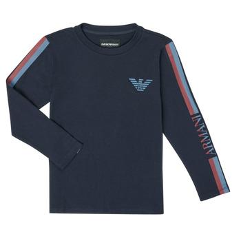 textil Pojkar Långärmade T-shirts Emporio Armani 6H4TJD-1J00Z-0920 Marin