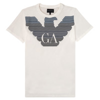 textil Pojkar T-shirts Emporio Armani 6H4TQ7-1J00Z-0101 Vit