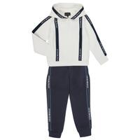 textil Pojkar Sportoverall Emporio Armani 6H4V02-1JDSZ-0101 Marin / Vit