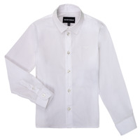 textil Pojkar Långärmade skjortor Emporio Armani 8N4CJ0-1N06Z-0100 Vit