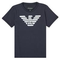 textil Pojkar T-shirts Emporio Armani 8N4T99-1JNQZ-0939 Marin