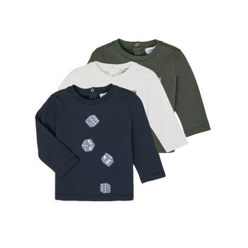 textil Pojkar Långärmade T-shirts Emporio Armani 6HHD21-4J09Z-0564 Flerfärgad