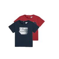 textil Pojkar T-shirts Emporio Armani 6HHD22-4J09Z-0353 Flerfärgad