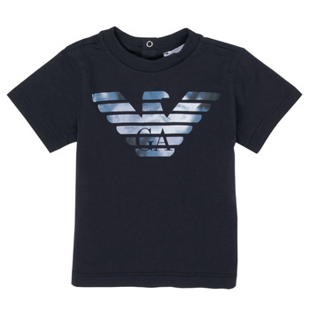 textil Pojkar T-shirts Emporio Armani 6HHTA9-1JDXZ-0920 Marin
