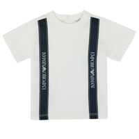 textil Pojkar T-shirts Emporio Armani 6HHTG4-1JTUZ-0101 Vit