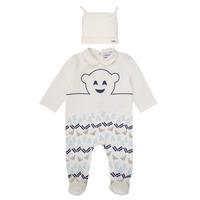 textil Pojkar Pyjamas/nattlinne Emporio Armani 6HHV08-4J3IZ-0101 Vit / Blå