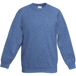 textil Barn Sweatshirts Fruit Of The Loom 62039 Heather Royal