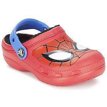 Skor Pojk Träskor Crocs SPIDERMAN LINED CLOG Röd
